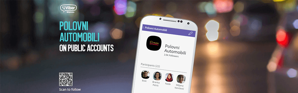 Polovniautomobili.com - Viber - On Public Account